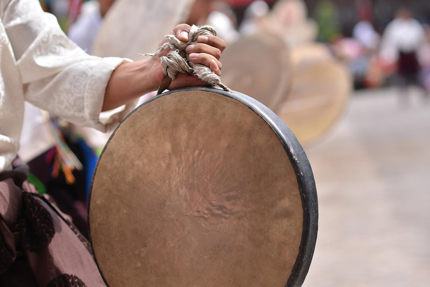 """Rhythmic drumming and dancing continues with the La mgon pa (Lha mngon pa ལྷ་མངོན་པ), or """"Manifesting of the Gods."""""""