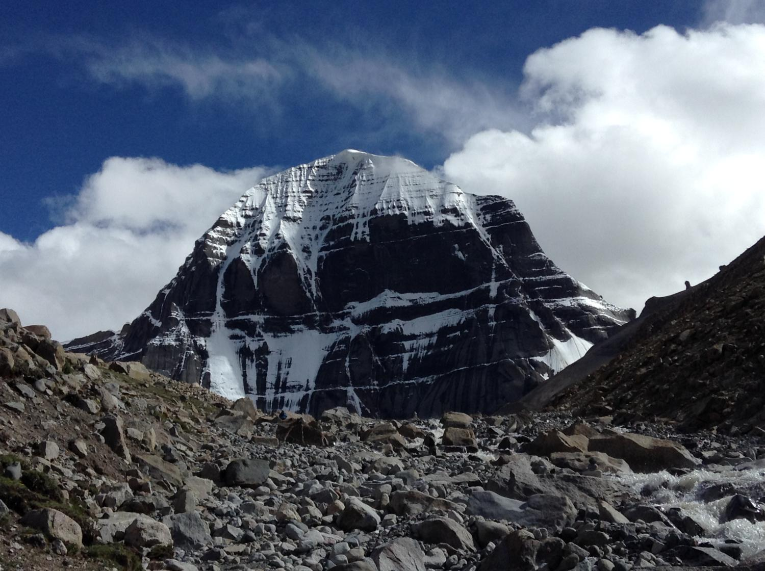 blue sky and Kailash
