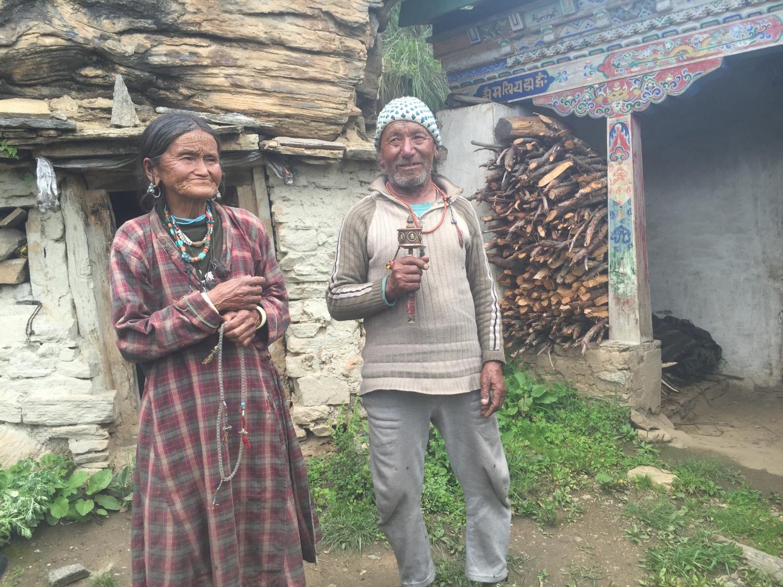 elderly couple at Guru Rinpoche cave