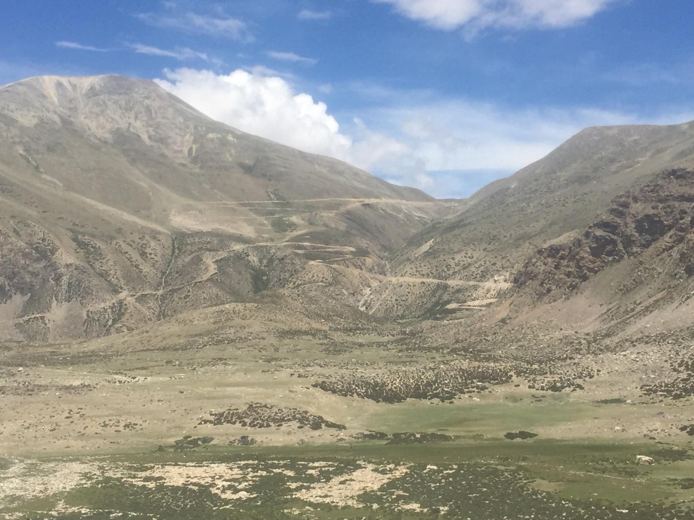 """new """"road"""" up to Laptsa Shar pass"""