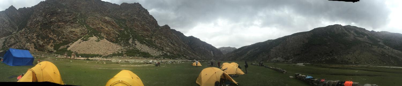 campsite at hot springs near Tsang