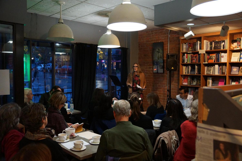 Natasha Mikles at the Translation Poetry Slam