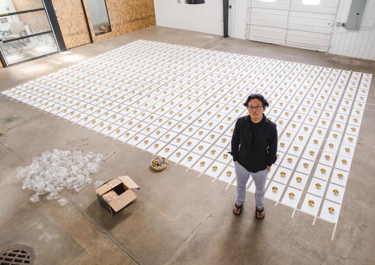 gonkar gyatso, installation at boulder creative collective