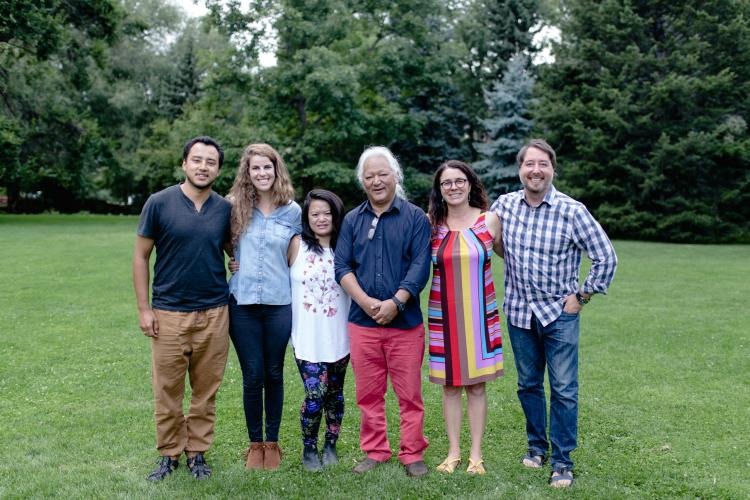 Karma Phutsok with CU Boulder Professor Carole McGranahan and graduate students