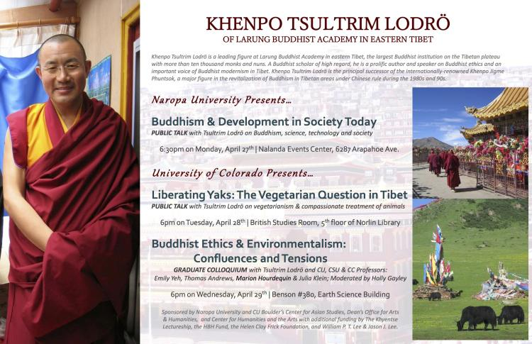 Khenpo Tsultrim Lodro Visit to CU Boulder