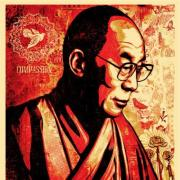HHDL Compassion by Shepard Fairey