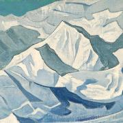 Snowy Ascent, Nicolas Roerich, coursesy of the Roerich Museum