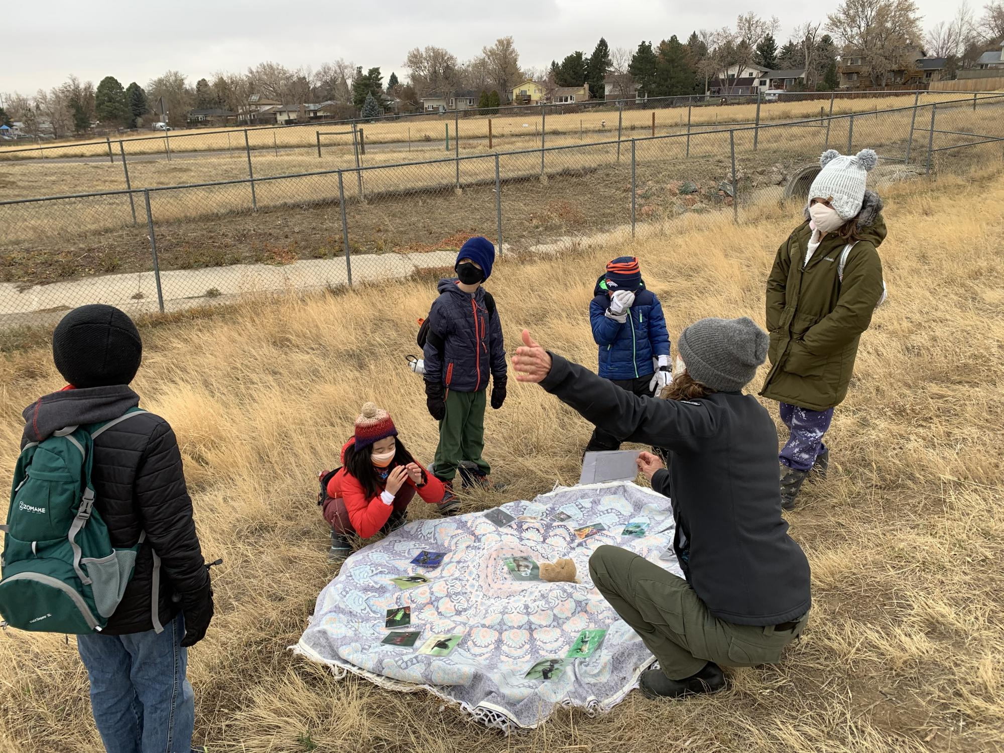 Students  learning about outdoor ecosystems
