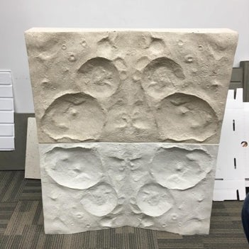 First prototype of the wall casts