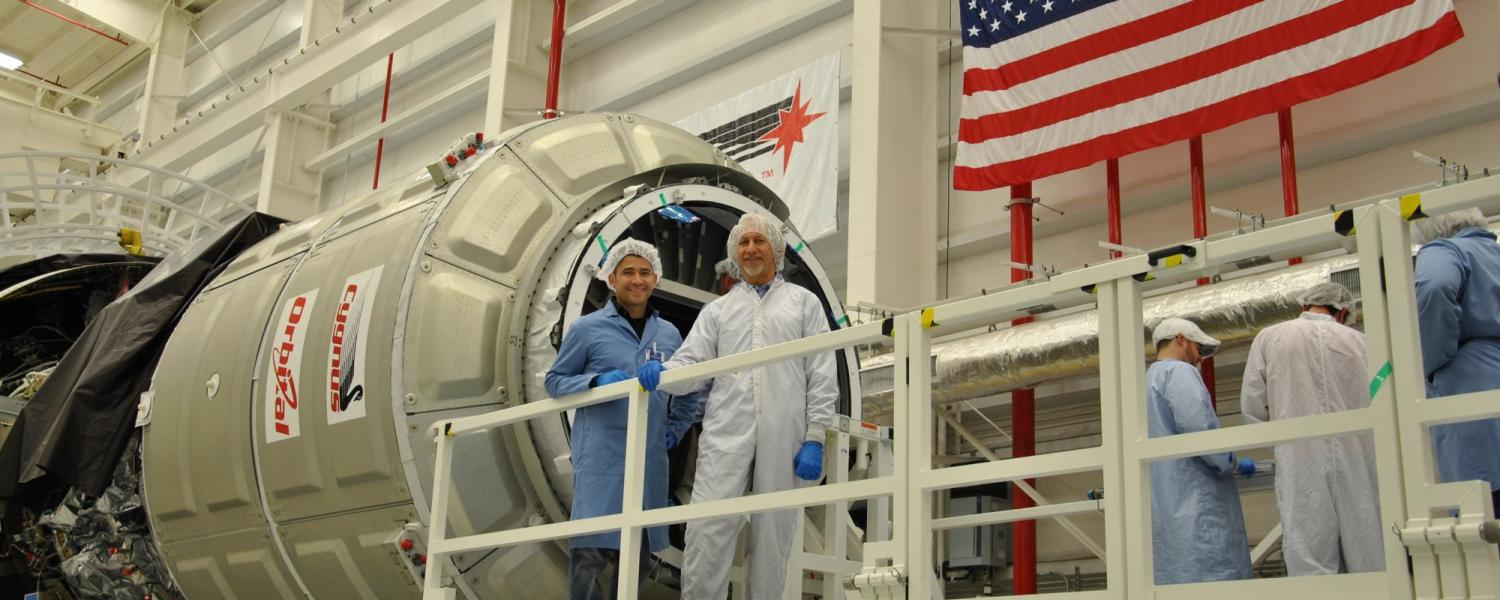 Luis Zea and Louis Stodieck at BioServe Space Technologies