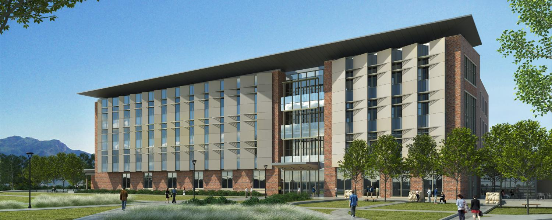Rendering of new aerospace engineering building on East Campus