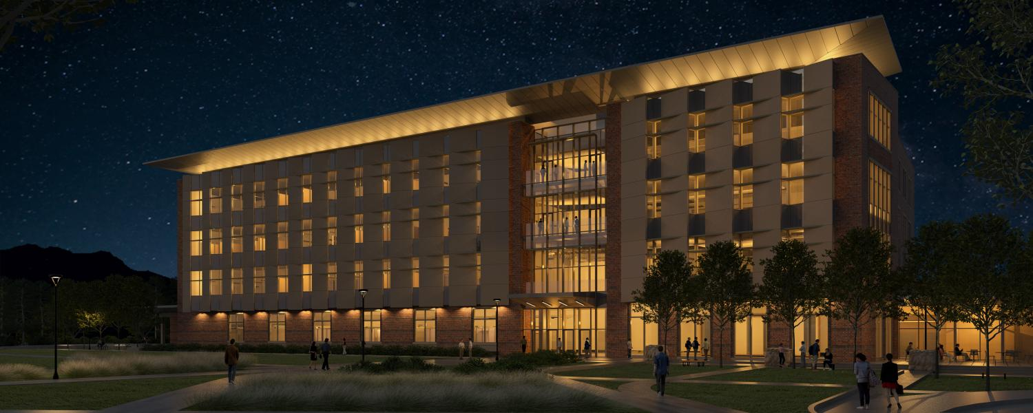Rendering of new aerospace engineering building on East Campus