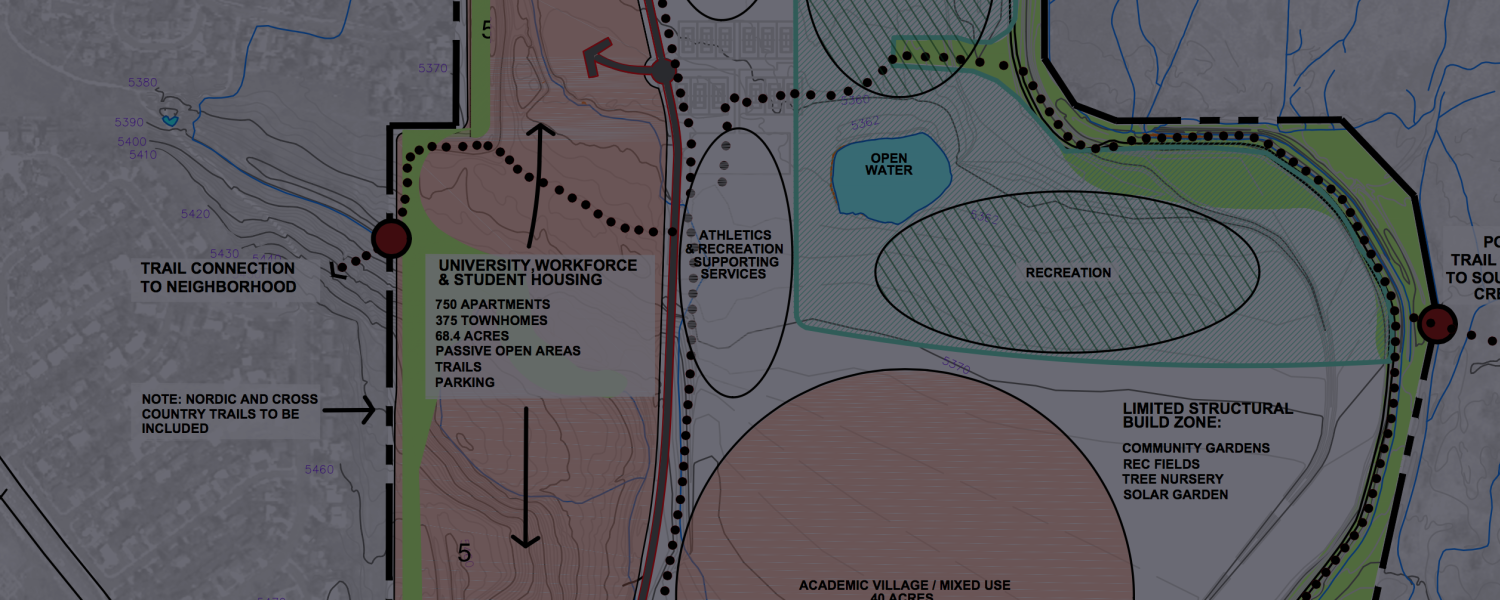 A detail from the CU Boulder South concept plan