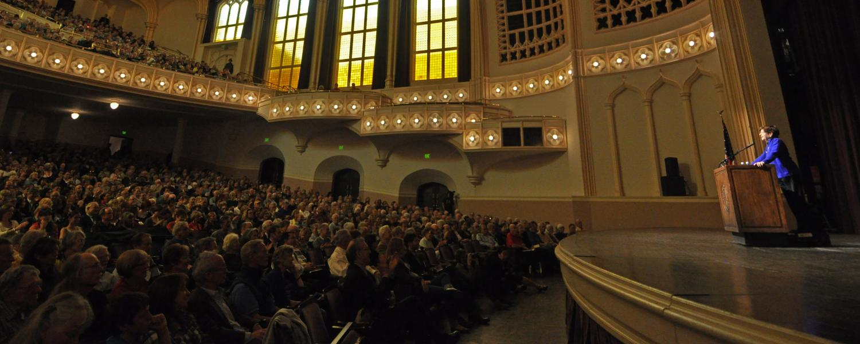 CWA speaker session at Macky Auditorium