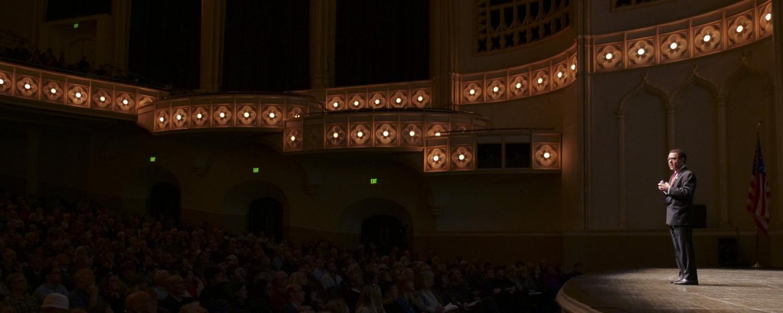 CWA keynote speaker Tony Seba during his address at Macky Auditorium