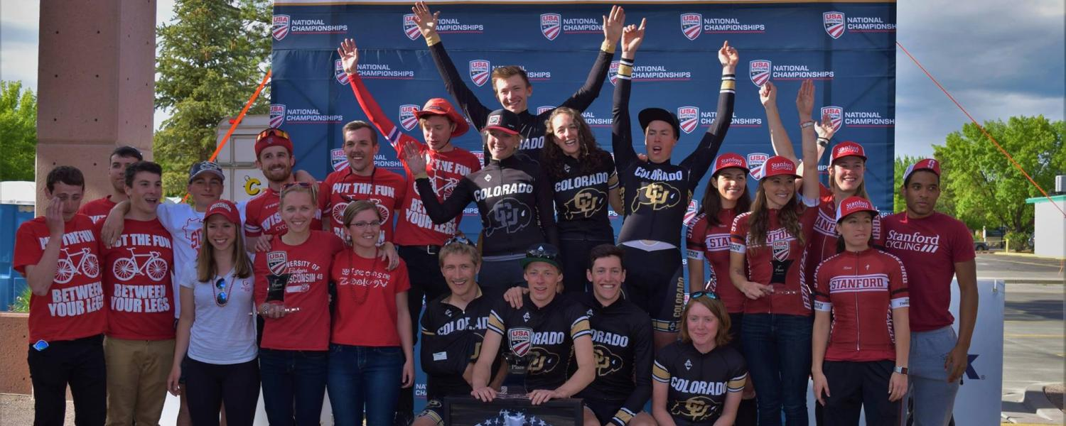 Cycling team post-win