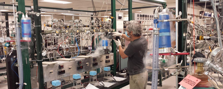 Preparing NOAA air samples