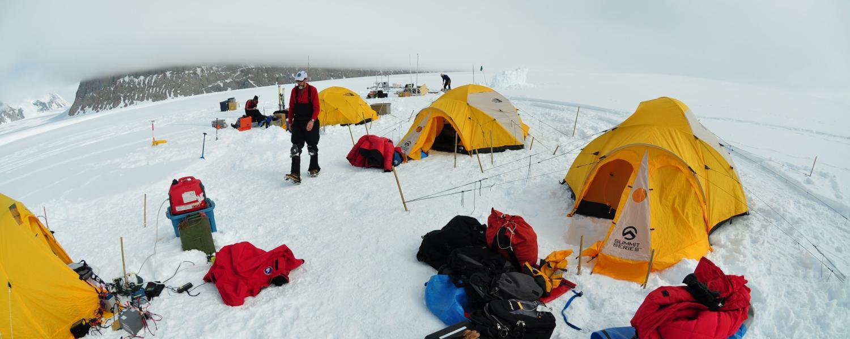 Camp site in Antarctica