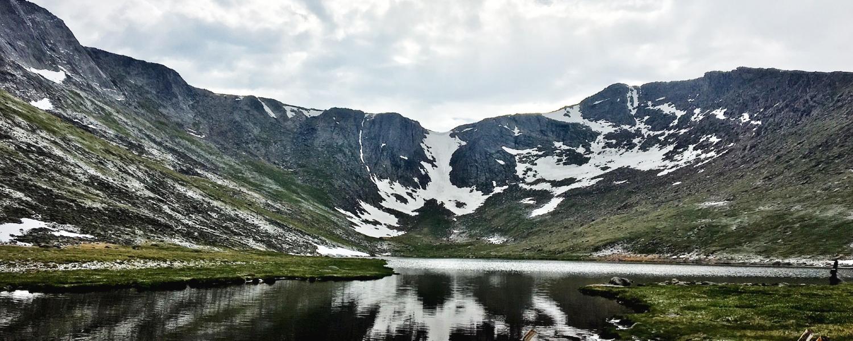 A ridge near the summit of Mount Evans from Summit Lake.