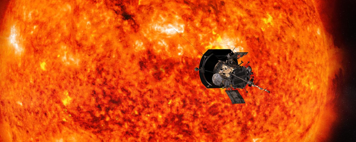 Parker Solar Probe circles in front of the sun.