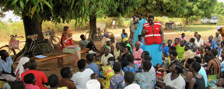 Red Cross interns in Africa