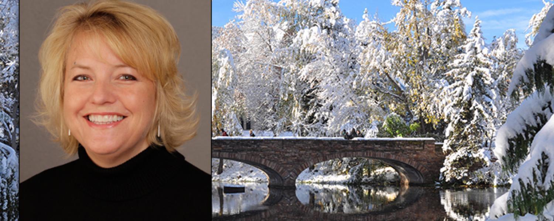 Lisa Severy, CU Boulder bridge