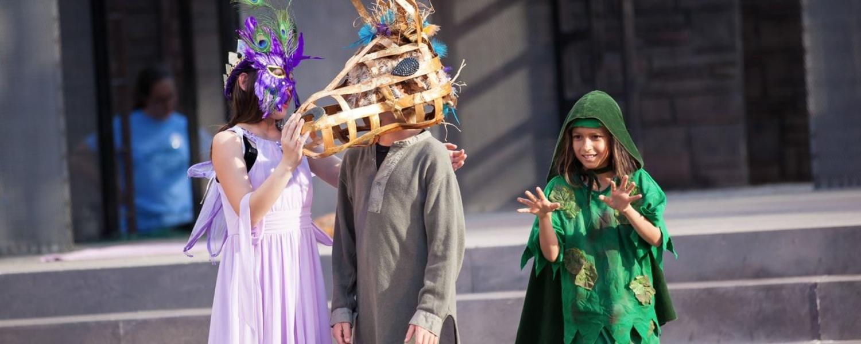 Kids perform Shakespeare on stage