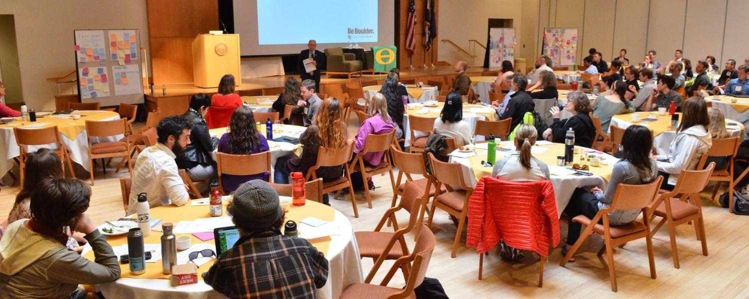 Sustainability awards ceremony at the annual Campus Sustainability Summit