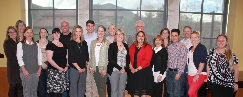 University Perspective Program graduates with coordinator Lauren Harris