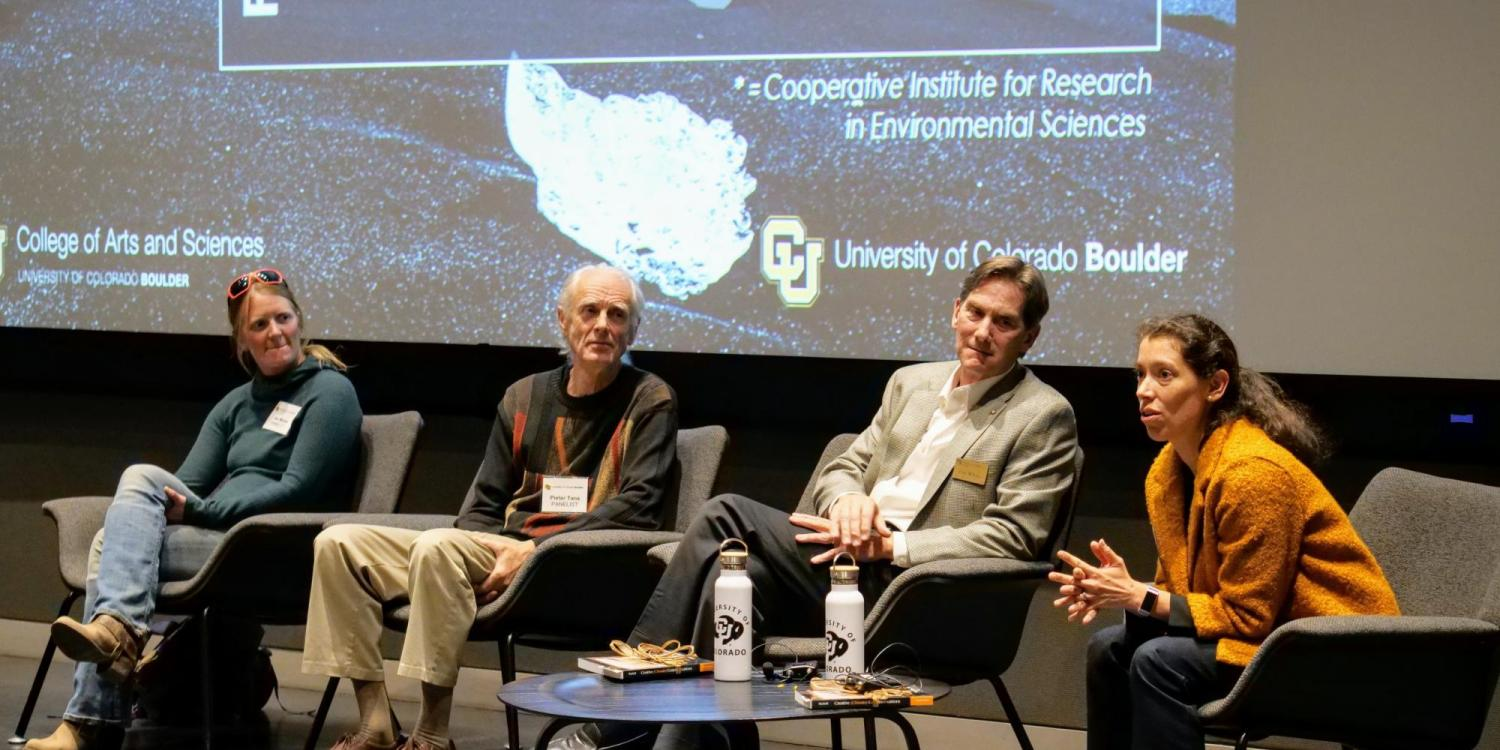 CU Boulder and NOAA scientists at a screening of Ice on Fire
