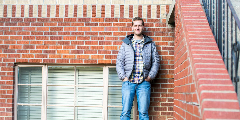 Josh Edelmann on CU Boulder's campus