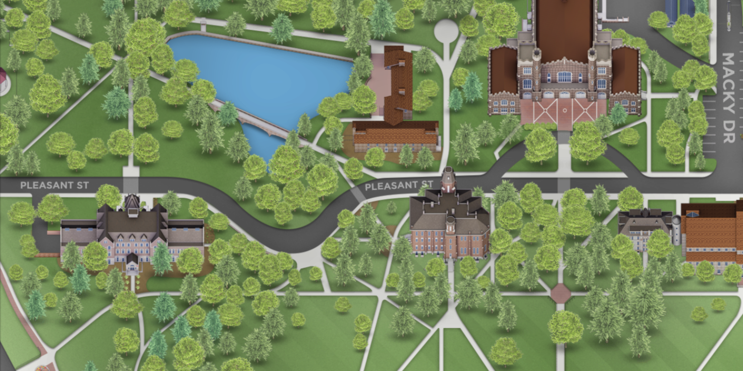 A snapshot of the new campus map.