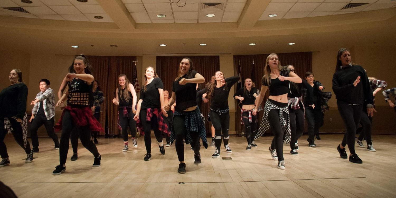 VeRVE CollisionZ street dance team performing in studio, photo by Ryan Dixon
