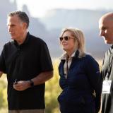 Waleed Abdalati, far right, stands alongside senators Michael Bennet and Mitt Romney, along with Ann Romney (Photo via Sen. Mitt Romney's office)