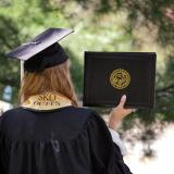 Scenes from the 2017 Integrated Physiology commencement on the CU Boulder campus. (Photo by Glenn Asakawa/University of Colorado)
