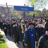 The faculty line at commencement.