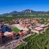 Aerial photo of CU Boulder Campus (Photo by Glenn Asakawa/University of Colorado)