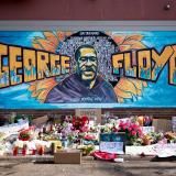 George Floyd mural outside of Cup Foods at Chicago Avenue and E 38th Street in Minneapolis, Minnesota