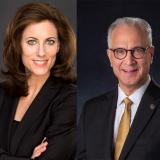 Lara Brown and Mark Kennedy