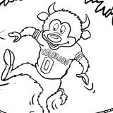 Drew Litton's illustration of Chip balancing on a rope in the Norlin Quad