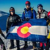 The Colorado Mountain Club, pictured on a summit, is funded in part by CCC donations