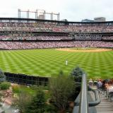 Panorama of Coors Field during game
