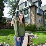 CU Boulder senior Cat Archer outside of her sorority house