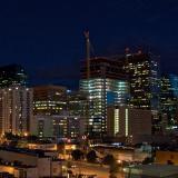 Panorama of the Denver skyline at night