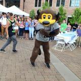 Chip the Buffalo dancing at the 2016 Diversity Summer Gathering