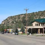 Street scene in Dolores, Colorado