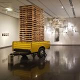 Faculty Exhibition: 2017 features bed of old yellow Datsun pickup