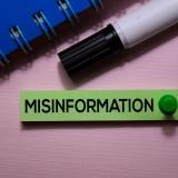 Bulletin board that says 'misinformation'