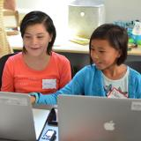 Young girls learn to code at Girls on Fire summer camp
