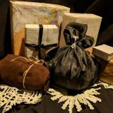 Sustainably wrapped Christmas presents